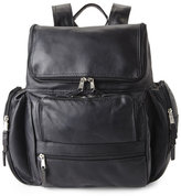 Latico Leathers Black Laptop Backpack