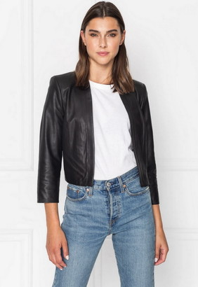 Singer22 Letsey Leather Crop Blazer