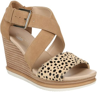 Dr. Scholl's Crisscross Wedge Sandals - Sweet Escape