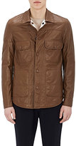 Fendi MEN'S REVERSIBLE LEATHER SHIRT JACKET