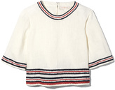 Tory Burch Florentina Top in New Ivory, Size 2