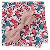 Original Penguin Cooper Dot Pre-Tied Bow Tie & Floral Print Pocket Square Box Set