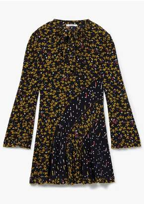 Derek Lam 10 Crosby Catia Mixed Jasmine Floral Print Dress