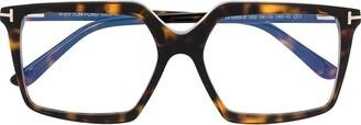 Tom Ford Oversized Tortoiseshell-Effect Glasses