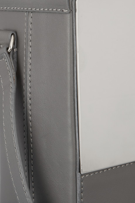 Maison Martin Margiela Leather and mirrored-metal shoulder bag