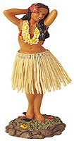 Leilani Dashboard Hula Doll Flower Placing Pose 7""