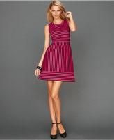 INC International Concepts Petite Dress, Sleeveless Striped A-Line