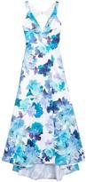 Jump Floral Print Back Cutout Ballgown