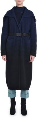 Fendi Ombre Ribbed Knit Coat