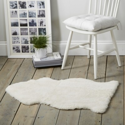The White Company Sheepskin Single Rug, Pearl, One Size