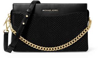 MICHAEL Michael Kors Jet Set Large Snake-embossed Leather Chain Crossbody Bag