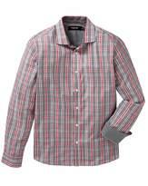 Black Label Checked Shirt Long