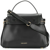 Twin-Set top flap tote bag - women - Calf Leather/Metal (Other) - One Size