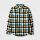 Cat & Jack Boys' Long Sleeve Woven Button Down Shirt - Cat & Jack Orange