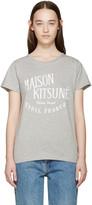 MAISON KITSUNÉ Grey Palais Royal T-Shirt