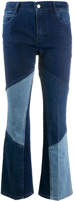 Stella McCartney Contrast-Panel Kick-Flare Jeans