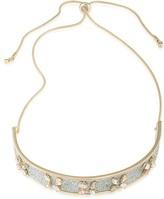 """ABS by Allen Schwartz Glitter Collar Necklace, 12"""""""