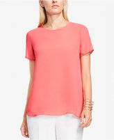 Vince Camuto High-Low Chiffon Top