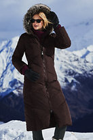 Classic Women's Petite Down Long Coat-Coffee Bean