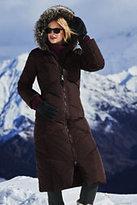Lands' End Women's Tall Down Long Coat-Black