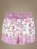 Marks and Spencer Floral Print Pyjama Shorts