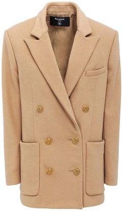 Balmain Wool & Cashmere Double Breast Jacket