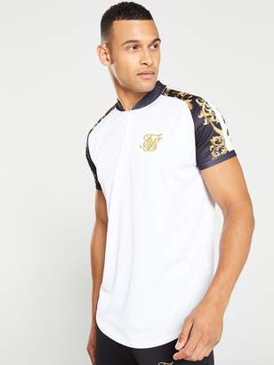 SikSilk Baseball T-Shirt - White