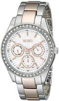 XOXO Women's XO5454 Rosegold And Silver-Tone Bracelet Watch