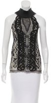 Jean Paul Gaultier Abstract Print Sleeveless Top w/ Tags