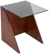 Lumisource Wood/Glass Tabulo Side Table Brown