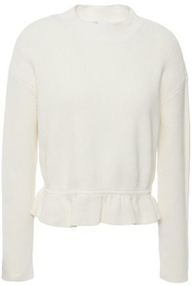 RED Valentino Cotton Peplum Sweater