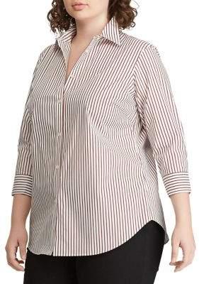 ac51c11cb Plus Size White Button Down Shirt - ShopStyle