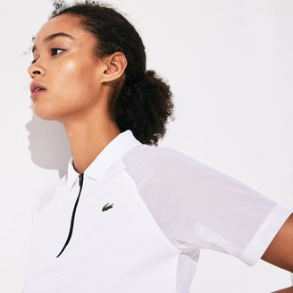 Lacoste Women's SPORT Geometric Print Breathable Tennis Polo