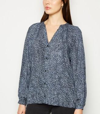 New Look Animal Print Long Sleeve Shirt