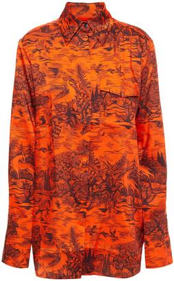 Victoria Victoria Beckham Printed Twill Shirt