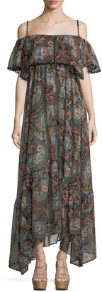 Anjuna Celestina Off-the-Shoulder Printed Maxi Dress