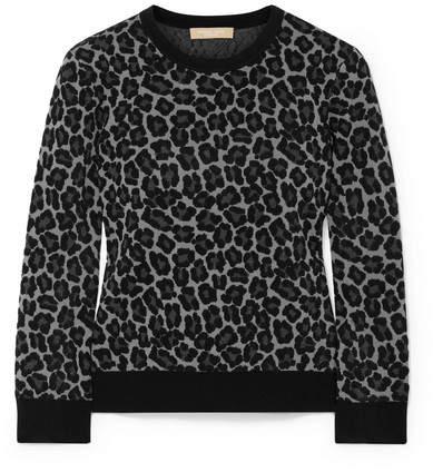 Michael Kors Jacquard-knit Sweater - Gray