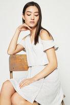 BCBGeneration Cold-Shoulder Overlay Dress
