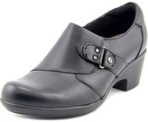 Clarks Genette Harper Women Round Toe Leather Black Clogs.