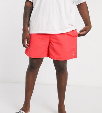 Polo Ralph Lauren Big & Tall Traveler player logo swim shorts in red