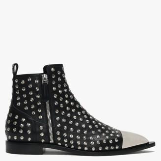 Alexander McQueen Toe Cap Black Studded Boots