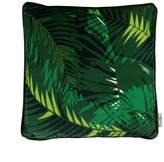 P.Westwell Velvet Cushion Featuring the Tunkun Palm Verdurous Print