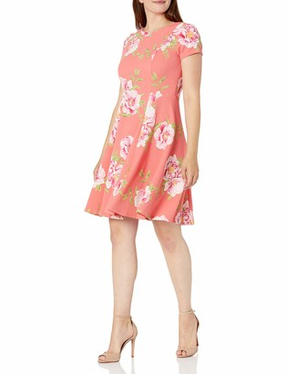 Jessica Howard JessicaHoward Women's Short Sleeve Fit and Flare Dress