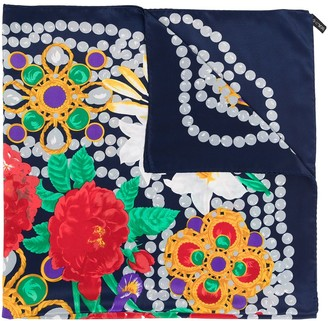 Chanel Pre Owned Camelia jewels print scarf