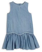 Chloé Toddler's, Little Girl's & Girl's Denim-Effect Drop-Waist Dress