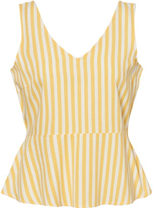 Vero Moda Helenmilo Stripe Linen Blend Sleeveless Top