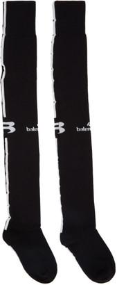 Balenciaga Black Sponsor Logo Soccer Socks