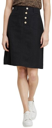 Oxford Tito Button Front Skirt