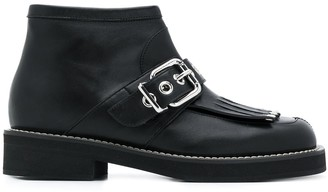 Marni Buckled-Detail Ankle Boots