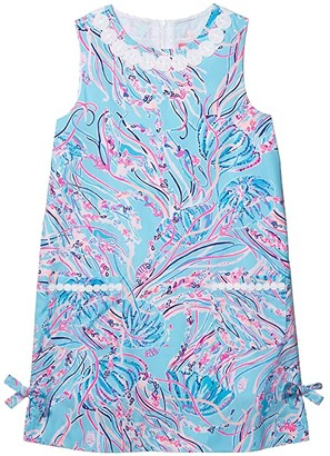 Lilly Pulitzer Little Lilly Classic Shift Dress (Toddler/Little Kids/Big Kids) (Bayside Blue Under The Moon) Girl's Dress